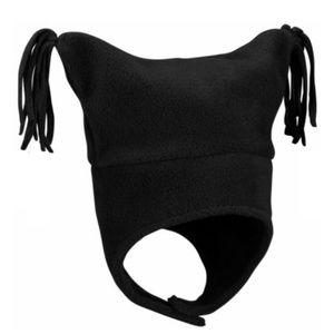 Columbia Black Fleece Pigtail Hat Infant One Size